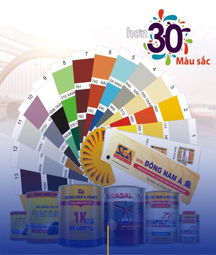 Sơn Đông Nam Á đa dạng sắc màu
